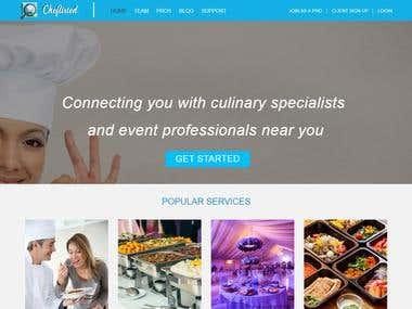 Cheflisted Website Development