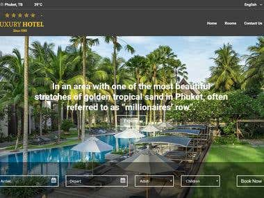 Real state Luxury Hotel HTML Project
