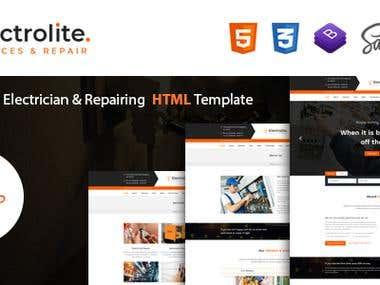 Electrolite HTML Template Design for Themeforest
