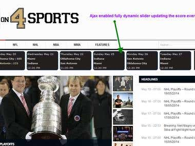 Scrapping Data From  sports.yahoo.com - NBA, NFL, NHL