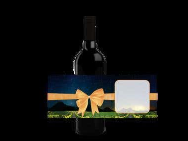 MOCKUPS AND GREETING CARDS FOR WINE BOTTLES