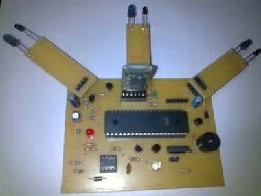 Control board for Obstacle-Detection Robot