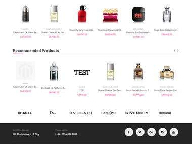 Building an online Perfume Store using Magento2.2.2