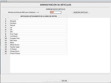wxPython Inventory Control