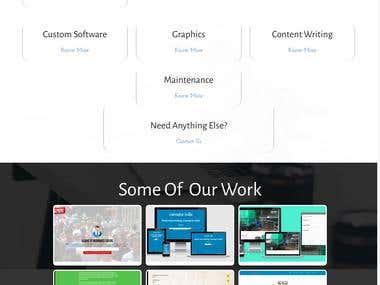 Simple yet HD graphics focused website