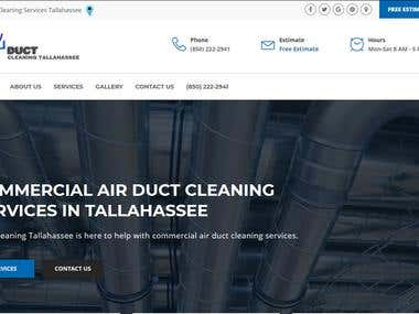 Duct Cleaning Tallahassee - Local Business Website