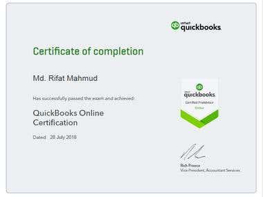QuickBooks Online Certified Pro Adviser
