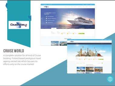 Cruise World Website Development