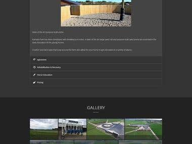 Custom Website - Kamada Park