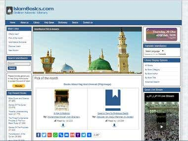 IslamBasics website full design and development