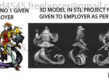 2D SKETCH TO 3D MODELLING of dragons.