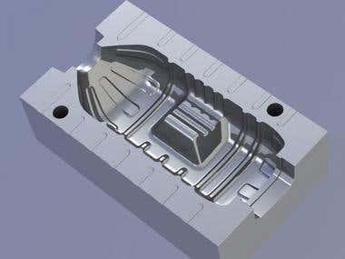 CNC programming for Bottle Cavity