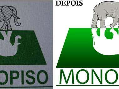 Reformulação do logo da empresa Monopiso
