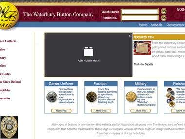 Water Burry Button Website