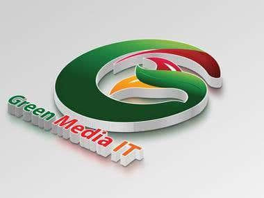 Logo Design for Green Media IT