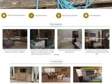 Furniture Ecommerce Shop Website