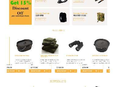 E-COMMERCE WEBSITE FOR CAMPING