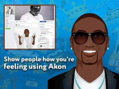 EmojiKon Emoji Keyboard by AKON!(iOS & Android)