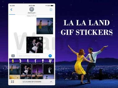 LA LA LAND Gif Stickers for iMessage