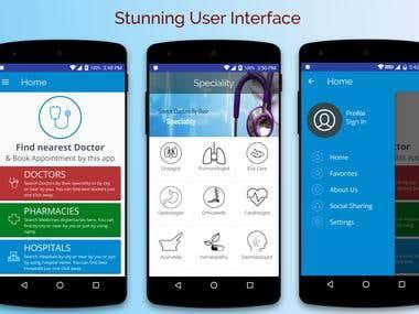 App designing and developing work