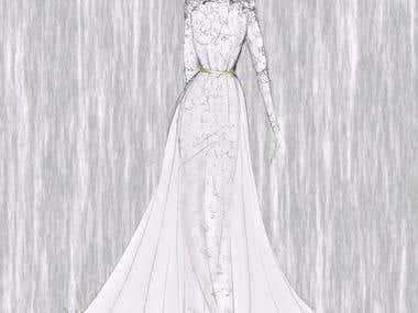 Evening Dress Sketch 1