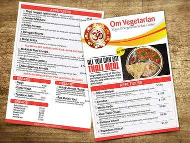 2 Sided Menu Designs