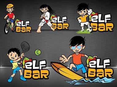 Set of Illustration Logo Designs