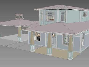 Building a 3D model of buildings from architectural 2d plans