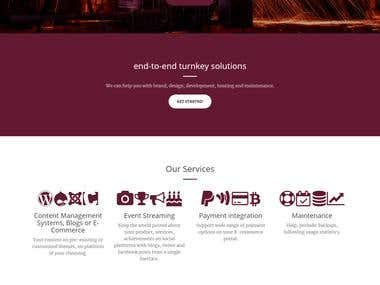 design marque factory website