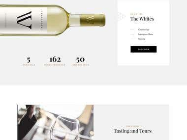 Wine Shop WordPress Website