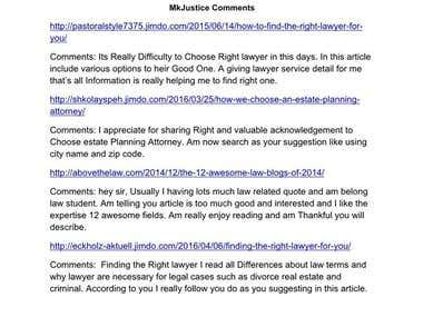SEO Comments Submition On Blogs