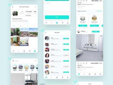 Instagram clone for Real Estate