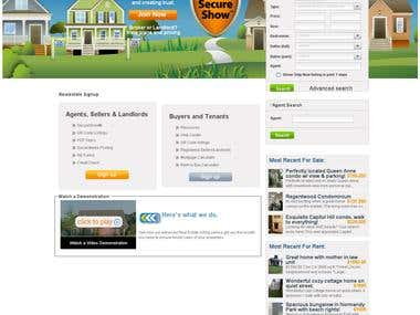 A real - estate based web application;