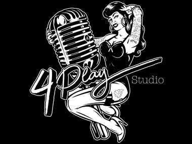 4 play studio logo design