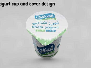 Yogurt cup and cover design