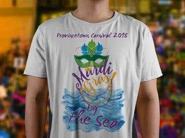 T-shirt Design For Mardi Gras Event