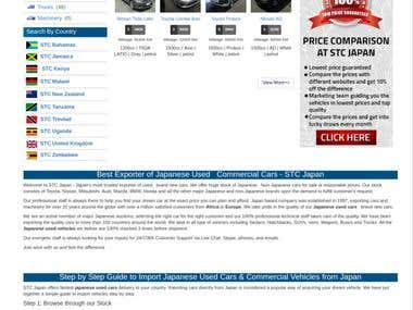 STC Japan , Php website about cars business