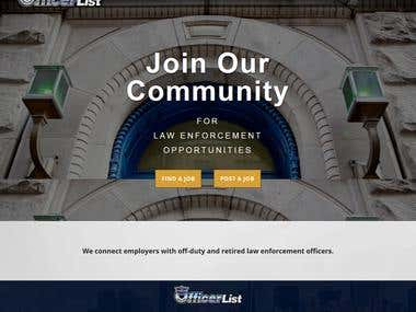 Hire Officer website
