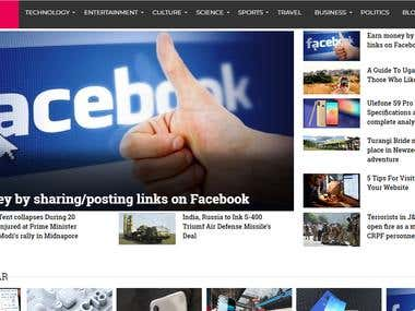 News and blogging website