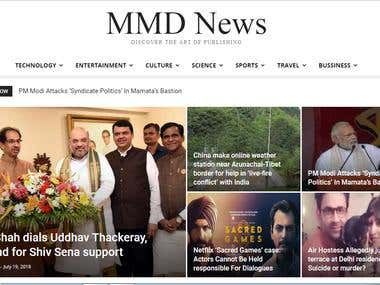 News channel called mmd news