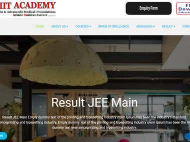 Online learning - Academic website in codeigniter