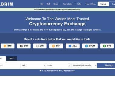 Exchange website - crypto currency exchagne