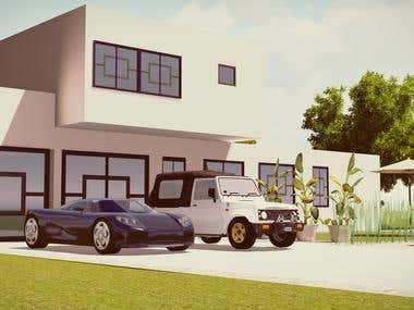 sketchup and lumion concept home