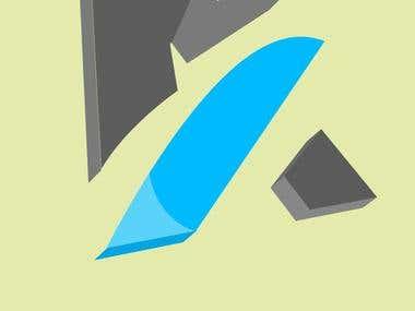 3D A Letter Logo