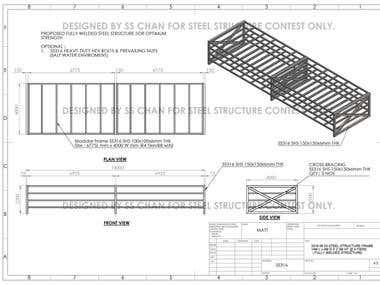 SS316 STEEL STRUCTURE 14M L x 4M D x 2.2M HT