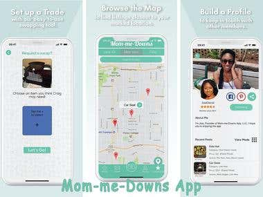 Mom-me-Downs App, Sell. Buy. Swap. - For Parents