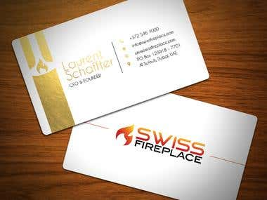 Swiss Fireplace - Gold Foil