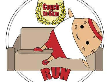 Medal design for Couch to 5k project