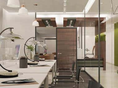 Work spaces design