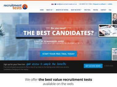 recruitment-tests.co.uk website backend development